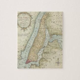 Mapa del vintage de New York City (1869) Puzzles Con Fotos