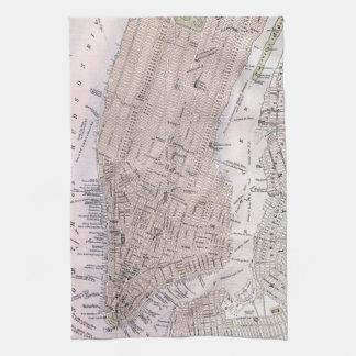 Mapa del vintage de New York City (1884) Toalla