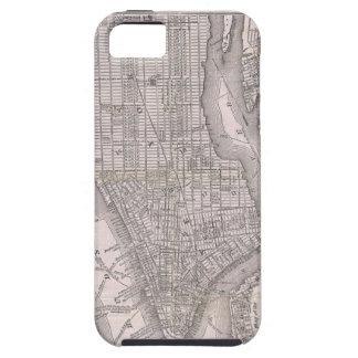Mapa del vintage de New York City (1886) iPhone 5 Case-Mate Cobertura