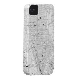 Mapa del vintage de New York City (1911) Case-Mate iPhone 4 Cárcasas