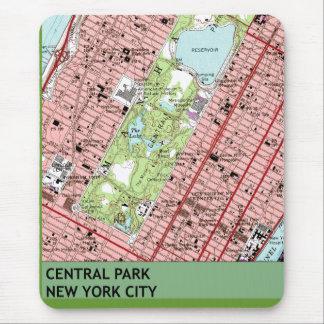 Mapa del vintage de New York City del Central Park Tapete De Ratón