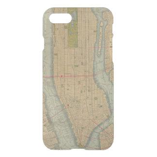 Mapa del vintage de New York City Manhattan Funda Para iPhone 7