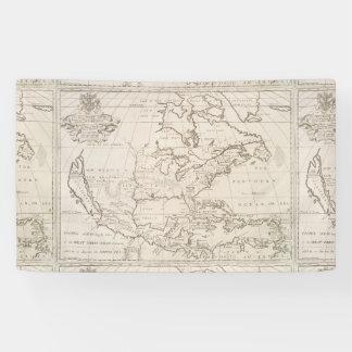 Mapa del vintage de Norteamérica (1719) Lona