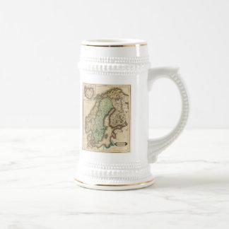 Mapa del vintage de Noruega y de Suecia 1831 Tazas De Café