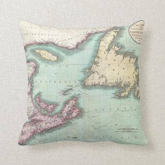Mapa del vintage de Nueva Escocia y de Terranova ( Cojín