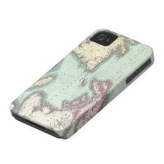 Mapa del vintage de Nueva Escocia y de Terranova iPhone 4 Case-Mate Cárcasa