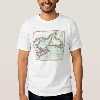 Mapa del vintage de Nueva Escocia y de Terranova Playera