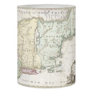 Mapa del vintage de Nueva Inglaterra (1716)