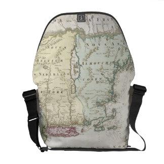 Mapa del vintage de Nueva Inglaterra 1716 Bolsas Messenger