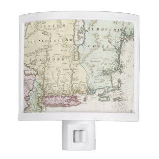 Mapa del vintage de Nueva Inglaterra 1716