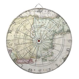 Mapa del vintage de Nueva Inglaterra 1716 Tabla Dardos