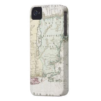 Mapa del vintage de Nueva Inglaterra (1716) Funda Para iPhone 4 De Case-Mate