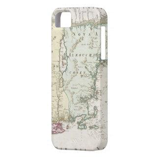 Mapa del vintage de Nueva Inglaterra (1716) Funda Para iPhone SE/5/5s