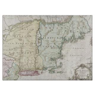 Mapa del vintage de Nueva Inglaterra (1716) Tabla Para Cortar