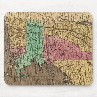Mapa del vintage de Nueva Inglaterra (1836) Alfombrillas De Raton