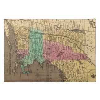 Mapa del vintage de Nueva Inglaterra (1836) Mantel