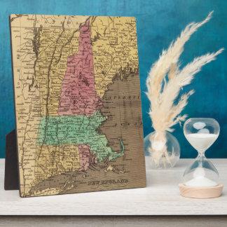 Mapa del vintage de Nueva Inglaterra (1836) Placas