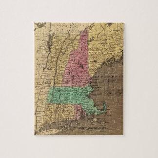 Mapa del vintage de Nueva Inglaterra (1836) Rompecabeza
