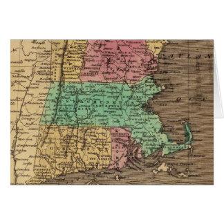 Mapa del vintage de Nueva Inglaterra (1836) Tarjeta De Felicitación