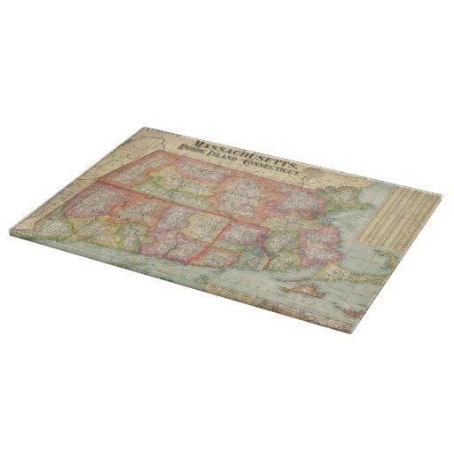 Mapa del vintage de Nueva Inglaterra States (1900) Tabla De Cortar