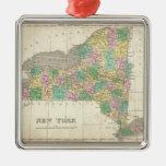 Mapa del vintage de Nueva York (1827) Ornamentos De Reyes Magos