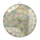 Mapa del vintage de Nueva York (1827) Tablero De Dardos