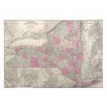Mapa del vintage de Nueva York (1864) Manteles