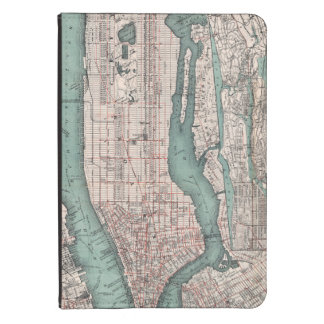 Mapa del vintage de Nueva York (1897) Funda De Kindle