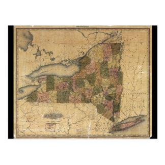 Mapa del vintage de Nueva York de Henry S. Tanner Tarjetas Postales