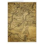 Mapa del vintage de Nueva York Tarjeton