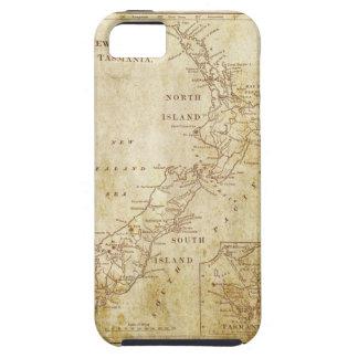 Mapa del vintage de Nueva Zelanda c1879 iPhone 5 Case-Mate Carcasas