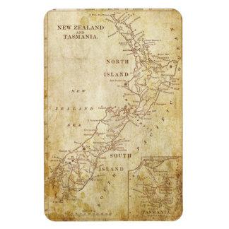 Mapa del vintage de Nueva Zelanda c1879 Iman Rectangular