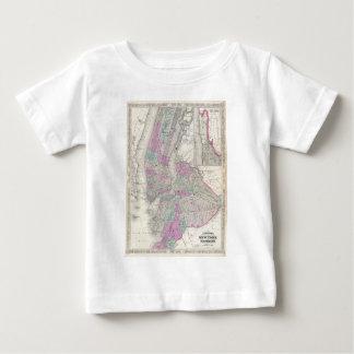 Mapa del vintage de NYC y de Brooklyn (1866) Camisas