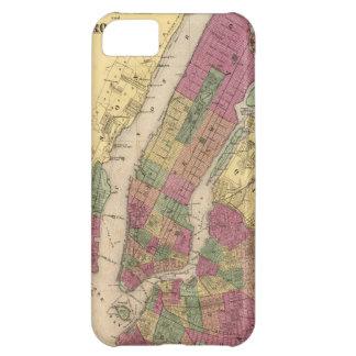 Mapa del vintage de NYC y de Brooklyn (1868)