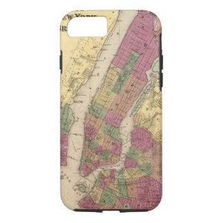 Mapa del vintage de NYC y de Brooklyn (1868) Funda iPhone 7