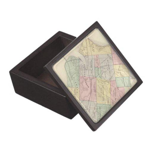 Mapa del vintage de Oakland California (1878) Cajas De Recuerdo De Calidad