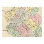 Mapa del vintage de Oakland California (1878) Postales