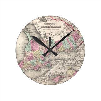 Mapa del vintage de Ontario (1857) Relojes