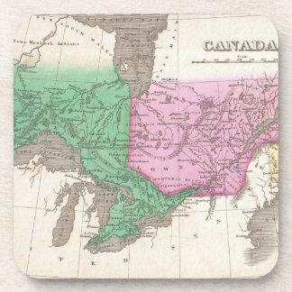 Mapa del vintage de Ontario y de Quebec (1827) Posavaso