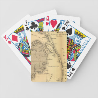 Mapa del vintage de Outer Banks (1862) Baraja Cartas De Poker