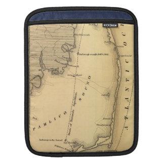 Mapa del vintage de Outer Banks (1862) Fundas Para iPads