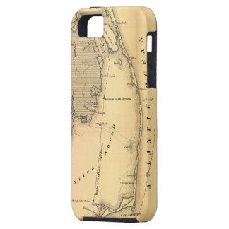 Mapa del vintage de Outer Banks (1862) iPhone 5 Carcasa