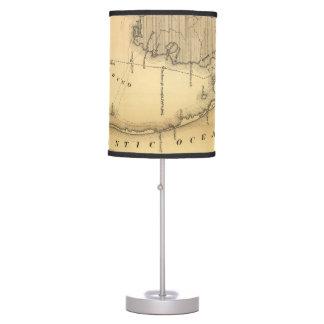 Mapa del vintage de Outer Banks (1862) Lámpara De Mesilla De Noche