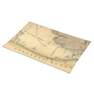 Mapa del vintage de Outer Banks (1862) Mantel