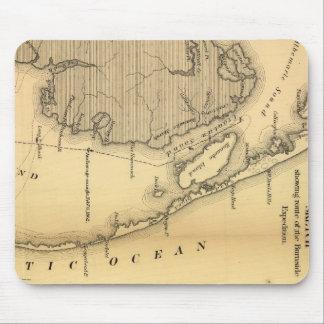 Mapa del vintage de Outer Banks (1862) Mouse Pads
