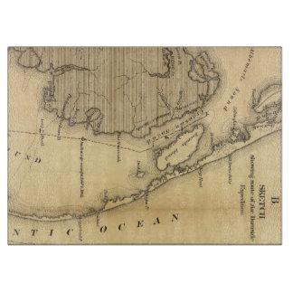 Mapa del vintage de Outer Banks (1862) Tabla De Cortar