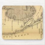 Mapa del vintage de Outer Banks (1862) Alfombrilla De Raton