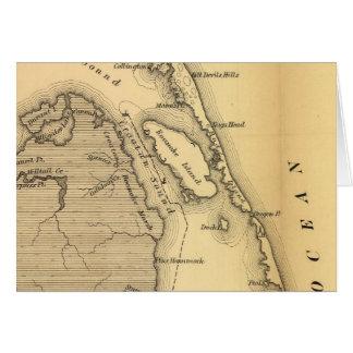 Mapa del vintage de Outer Banks (1862) Tarjeta De Felicitación