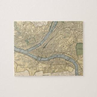 Mapa del vintage de PA de Pittsburgh (1891) Puzzle Con Fotos