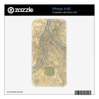 Mapa del vintage de PA de Pittsburgh (1891) Skin Para El iPhone 4